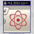 Atomic Cloud Atom Decal Sticker D1 Red 120x120