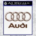 Audi 3D Rings Text Decal Sticker BROWN Vinyl 120x120