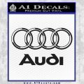 Audi 3D Rings Text Decal Sticker Black Vinyl 120x120