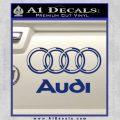 Audi 3D Rings Text Decal Sticker Blue Vinyl 120x120