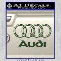 Audi 3D Rings Text Decal Sticker Dark Green Vinyl 120x120