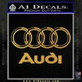 Audi 3D Rings Text Decal Sticker Gold Vinyl 120x120