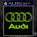 Audi 3D Rings Text Decal Sticker Lime Green Vinyl 120x120