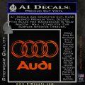 Audi 3D Rings Text Decal Sticker Orange Emblem 120x120