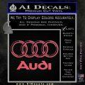 Audi 3D Rings Text Decal Sticker Pink Emblem 120x120