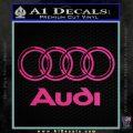 Audi 3D Rings Text Decal Sticker Pink Hot Vinyl 120x120