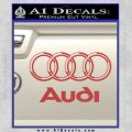 Audi 3D Rings Text Decal Sticker Red 120x120