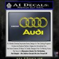 Audi 3D Rings Text Decal Sticker Yellow Laptop 120x120