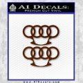 Audi Brass Knuckles Decal Sticker BROWN Vinyl 120x120