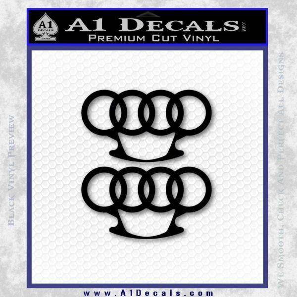 Audi Brass Knuckles Decal Sticker Black Vinyl