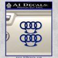 Audi Brass Knuckles Decal Sticker Blue Vinyl 120x120
