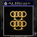 Audi Brass Knuckles Decal Sticker Gold Vinyl 120x120