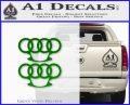 Audi Brass Knuckles Decal Sticker Green Vinyl Logo 120x97