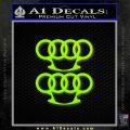 Audi Brass Knuckles Decal Sticker Lime Green Vinyl 120x120