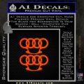 Audi Brass Knuckles Decal Sticker Orange Emblem 120x120