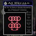 Audi Brass Knuckles Decal Sticker Pink Emblem 120x120