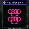 Audi Brass Knuckles Decal Sticker Pink Hot Vinyl 120x120