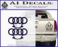 Audi Brass Knuckles Decal Sticker PurpleEmblem Logo 120x97
