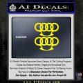 Audi Brass Knuckles Decal Sticker Yellow Laptop 120x120