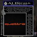 Audi Quattro Decal Sticker 2 Pack Orange Emblem 120x120