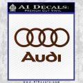 Audi Rings Text Decal Sticker BROWN Vinyl 120x120