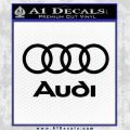 Audi Rings Text Decal Sticker Black Vinyl 120x120