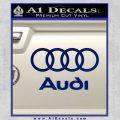 Audi Rings Text Decal Sticker Blue Vinyl 120x120
