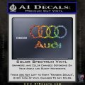 Audi Rings Text Decal Sticker Glitter Sparkle 120x120