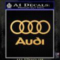 Audi Rings Text Decal Sticker Gold Vinyl 120x120