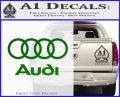 Audi Rings Text Decal Sticker Green Vinyl Logo 120x97