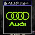 Audi Rings Text Decal Sticker Lime Green Vinyl 120x120