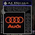 Audi Rings Text Decal Sticker Orange Emblem 120x120