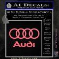 Audi Rings Text Decal Sticker Pink Emblem 120x120