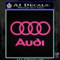 Audi Rings Text Decal Sticker Pink Hot Vinyl 120x120