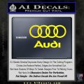 Audi Rings Text Decal Sticker Yellow Laptop 120x120