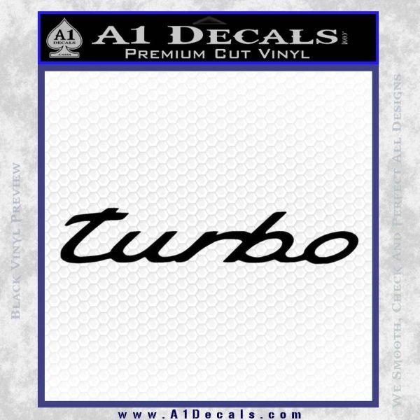 Audi Turbo Decal Sticker Black Vinyl