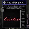 Audi Turbo Decal Sticker Pink Emblem 120x120