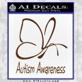 Autism Awareness Butterfly Cause Decal Sticker BROWN Vinyl 120x120