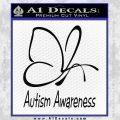 Autism Awareness Butterfly Cause Decal Sticker Black Vinyl 120x120