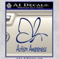 Autism Awareness Butterfly Cause Decal Sticker Blue Vinyl 120x120