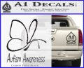 Autism Awareness Butterfly Cause Decal Sticker Carbon FIber Black Vinyl 120x97