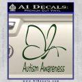 Autism Awareness Butterfly Cause Decal Sticker Dark Green Vinyl 120x120