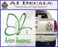 Autism Awareness Butterfly Cause Decal Sticker Green Vinyl Logo 120x97