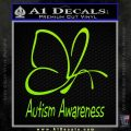 Autism Awareness Butterfly Cause Decal Sticker Lime Green Vinyl 120x120
