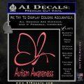 Autism Awareness Butterfly Cause Decal Sticker Pink Emblem 120x120