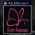 Autism Awareness Butterfly Cause Decal Sticker Pink Hot Vinyl 120x120