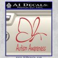 Autism Awareness Butterfly Cause Decal Sticker Red 120x120