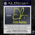 Autism Awareness Butterfly Cause Decal Sticker Yellow Laptop 120x120