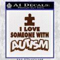 Autism Awareness Decal Sticker Puzzle BROWN Vinyl 120x120