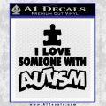 Autism Awareness Decal Sticker Puzzle Black Vinyl 120x120